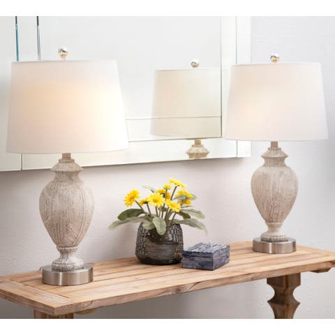 Abbyson Allyson 27-inch Textured Table Lamp (Set of 2)