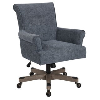 OSP Home Furnishings Megan Office Chair with Grey Wash Wood Base