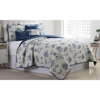 Amrapur Overseas Seaside 5-Piece Reversible Quilted Coverlet Set