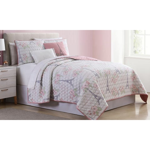 Amrapur Overseas Provins 5-Piece Reversible Quilted Coverlet Set