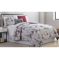 Amrapur Overseas Chateau 5-Piece Reversible Quilted Coverlet Set