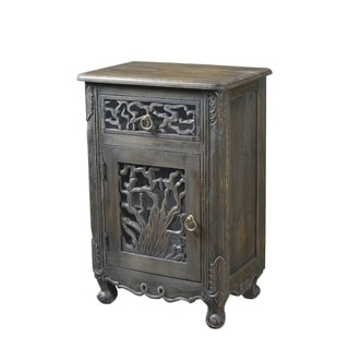 Aria Collection - 1 Drawer 1 Door Nightstand