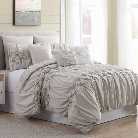 Amrapur Overseas 8-Piece Nevin Comforter Set - Tan