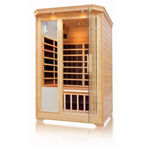 Empava 2-3 Person Infrared Sauna Room Carbon Fiber Heaters Wood Dry