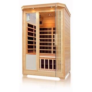 Empava 2-3 Person Infrared Sauna Room Carbon Fiber Heaters Wood Dry