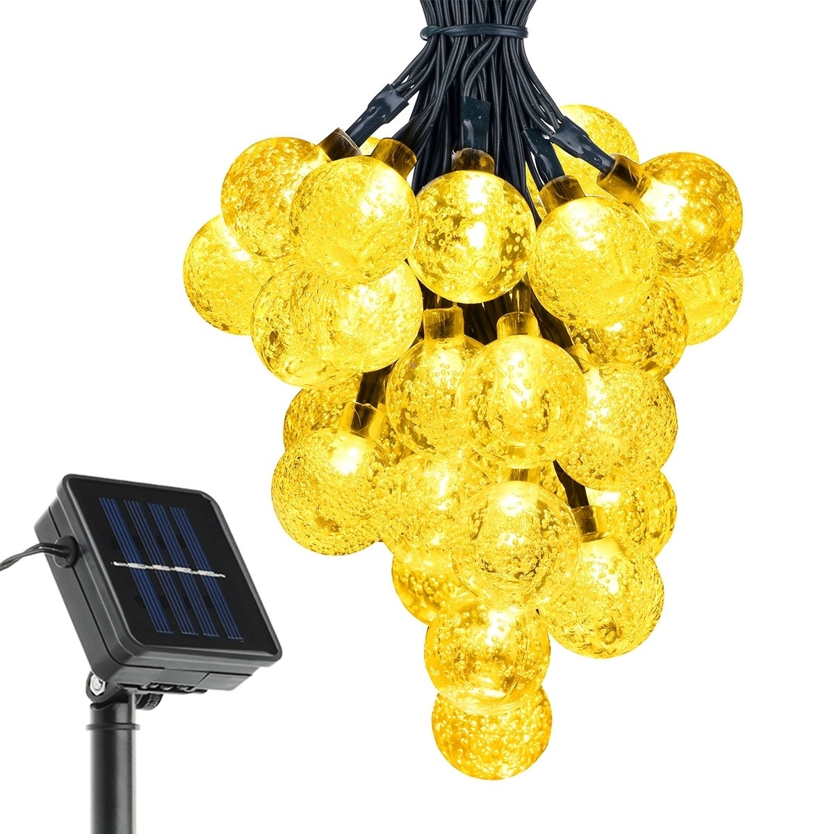 Coutlet Solar String Lights With 20ft 30 Led White Crystal