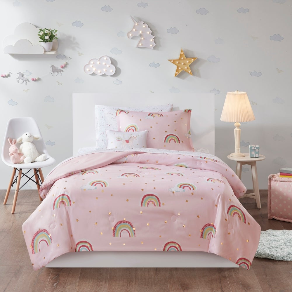 Pink Duvet Covers Wish Upon A Star Gold Quote Girls Quilt Cover Bedding Sets