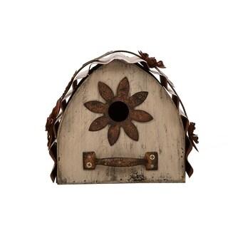 Glitzhome Distressed Solid Wood Birdhouse
