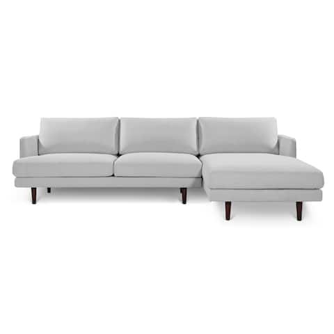 Poly and Bark Baley Harbor Grey Fabric Right Sectional Sofa
