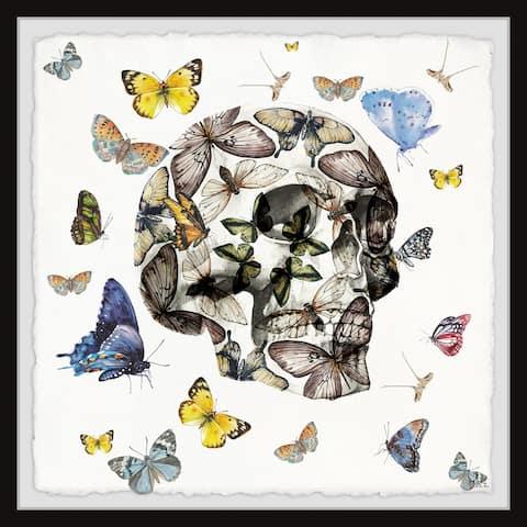 Handmade Butterfly Skull Escape Framed Print