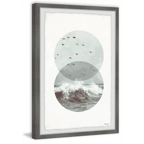 Handmade Shaded Waves Framed Print