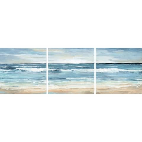 Handmade Blue Waves Triptych