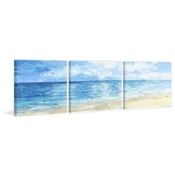 Deep Blue Sea Triptych Multi Color