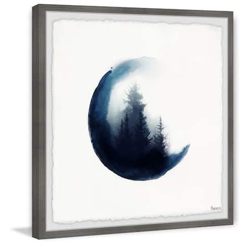 Handmade Clouded Forest Framed Print