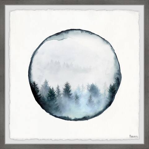 Handmade Rounded Foggy Forest Framed Print