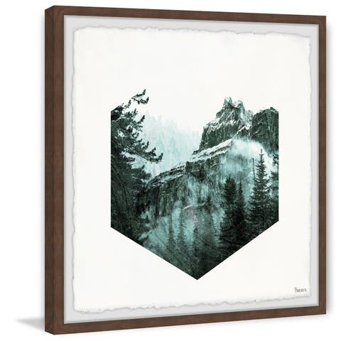 'Hexagon Forest' Framed Painting Print