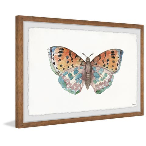 Handmade Clown Butterfly Framed Print