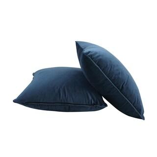 Edgemod Nia Velvet Accent Pillow in Aegean Blue (Set of 2)