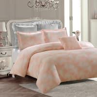 Royal Feathers Duvet Set-Pink -Machine Washable - Includes 1 Duvet + 1 Sham- 1 Pillow -Twin
