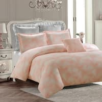 Royal Feathers Comforter Set-Pink-Machine Washable - Includes 1 Comforter + 2 Shams- 1 Pillow -Full