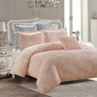 Royal Feathers Comforter Set-Pink--Machine Washable - Includes 1 Comforter + 1 Sham- 1 Pillow -Twin