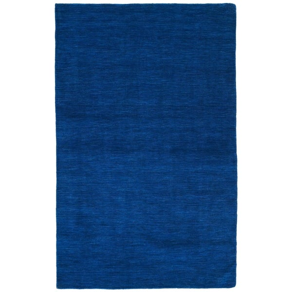 Hand-tufted Elite Wool Blue Rug - 5' x 8'