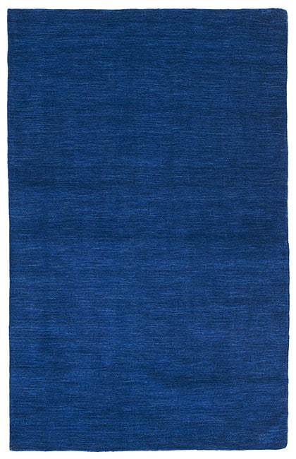 Hand-tufted Elite Wool Blue Rug (5' x 8')