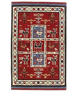 Elite Tribal Handmade Wool Rug (5' x 8')