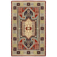 Elite Traditional Handmade Wool Rug (5' x 8') - 5' x 8'