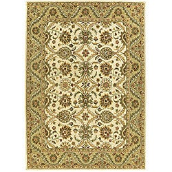 Handmade Elite Traditional Wool Rectangle Rug (5' x 8')
