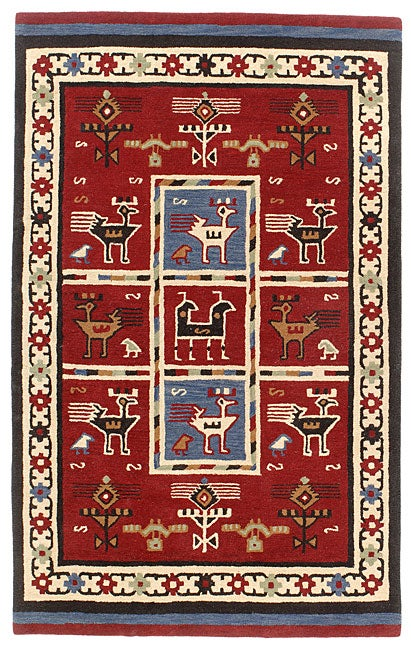 Elite Tribal Handmade Wool Rug (8' x 11')
