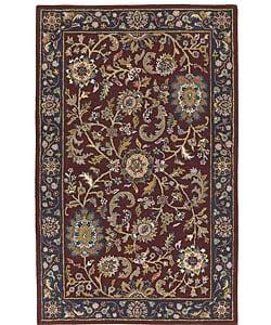 Handmade Elite Floral Traditional Wool Rug (8' x 11')
