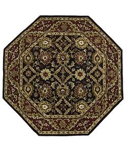 Elite Traditional Handmade Wool Rug (6' Octagon)