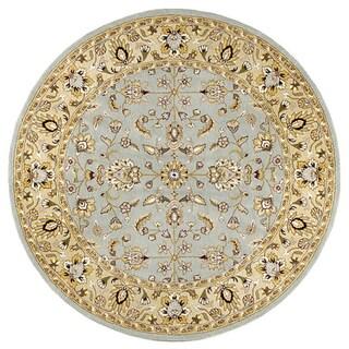 Elite Traditional Handmade Wool Rug (8' Round)