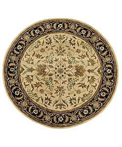 Handmade Elite Traditional Floral Wool Rug (8' Round)