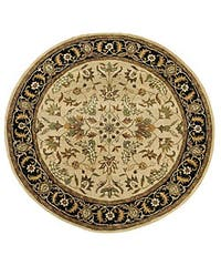 Handmade Elite Traditional Floral Wool Rug (8' Round) - 8' x 8'