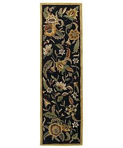 Handmade Elite Transitional Wool Runner Rug (2'6 x 8')