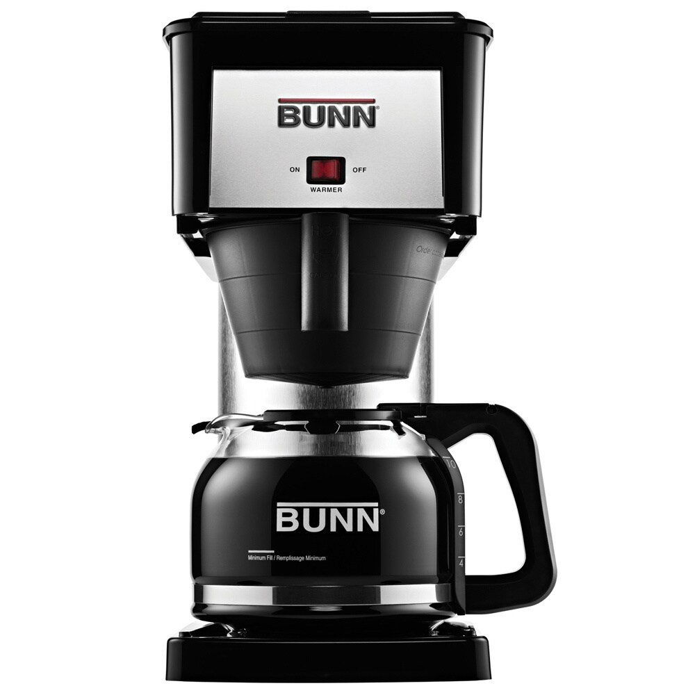 BUNN BX-B 10-cup Home Pourover Coffee Brewer (10-Cup), Bl...