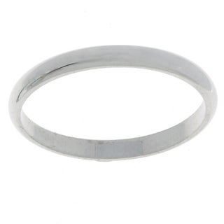 Platinum Traditional Wedding Ring with Half-round Band Design (More options available)