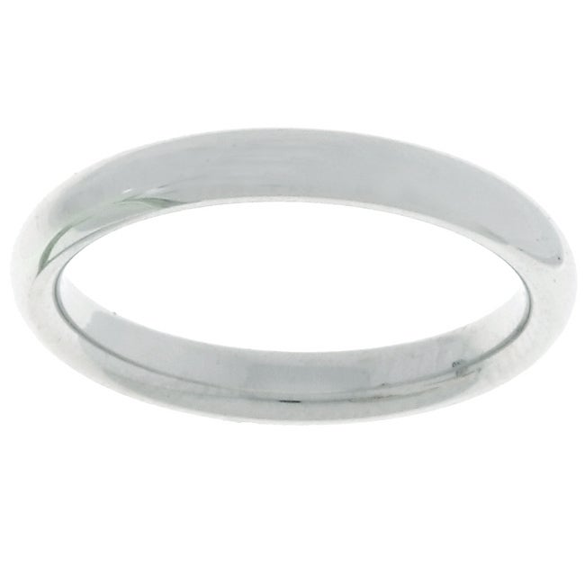 Platinum 3mm Comfort Fit Wedding Band