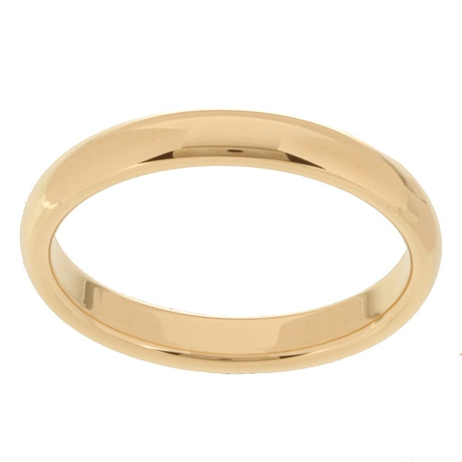 10k Yellow Gold Comfort Fit 3-mm Wedding Band