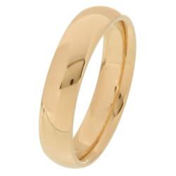14k Yellow Gold Women's 4-mm Comfort Fit Wedding Band