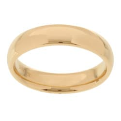 14k Yellow Gold Women's 4-mm Comfort Fit Wedding Band