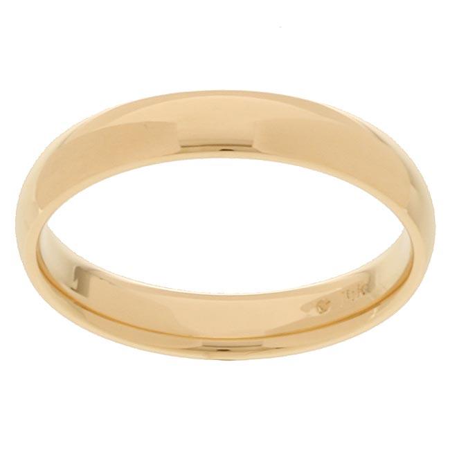 14k Yellow Gold Men's 4-mm Comfort Fit Wedding Band