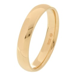 10k Yellow Gold Men's Comfort Fit 4-mm Wedding Band - Thumbnail 1