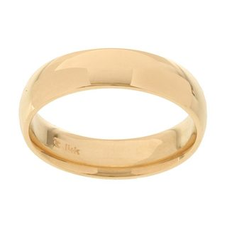 14k Yellow Gold Women's 5-mm Comfort Fit Wedding Band
