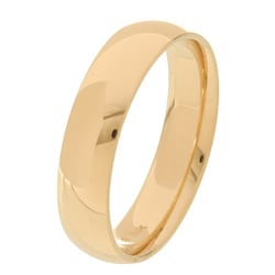 14k Yellow Gold Men's 5-mm Comfort Fit Wedding Band