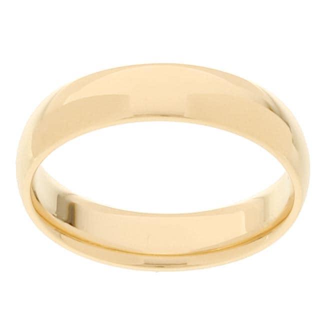 10k Yellow Gold Men's Comfort Fit 5-mm Wedding Band