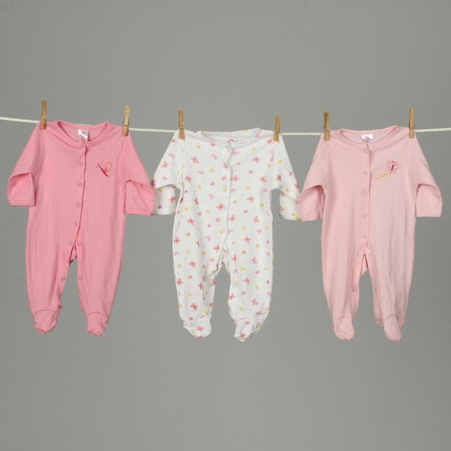Sleep 'N' Play Rompers Infant Girls Sleepwear (Pack of 6) - Thumbnail 0