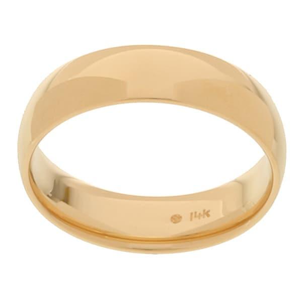14k Yellow Gold Men's 6-mm Comfort Fit Wedding Band